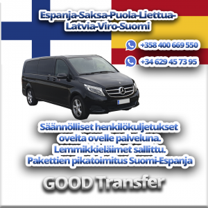 GOOD Transfer - kuljetukset Suomi-Espanja